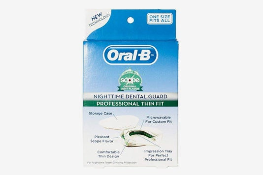 Oral-B Nighttime Dental Guard with Scope.