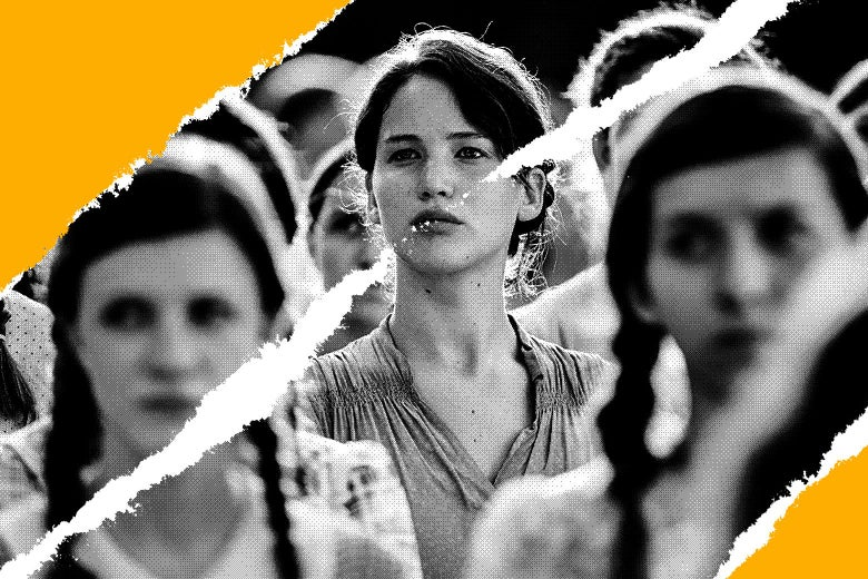 Photo illustration of Jennifer Lawrence as Katniss Everdeen in the film adaptation of The Hunger Games