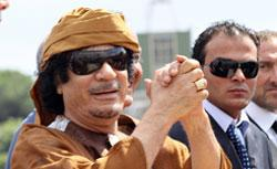 Libyan leader Muammar Qaddafi.