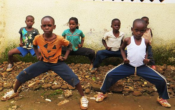 Kampala's most unlikely group of kung fu heroes.