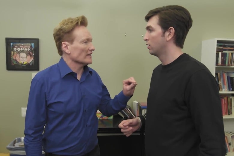 If This Week's Episode of Succession Doesn't Have Enough Cousin Greg, Let Conan O'Brien Pick Up the Slack