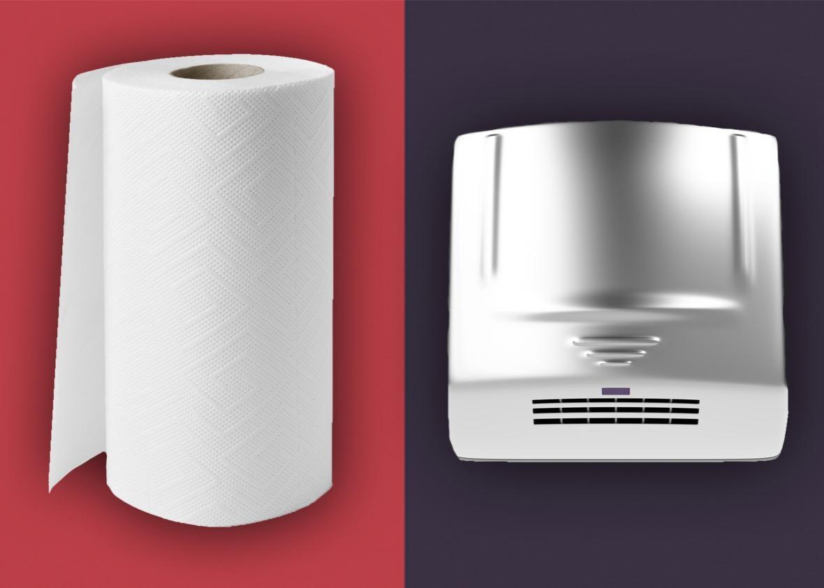 paper towels hand dryer.