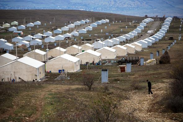n Prezeti, a camp for internally displaced people in the Republi