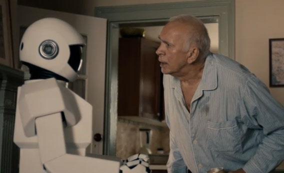 screenshot of Robot and Frank trailer.