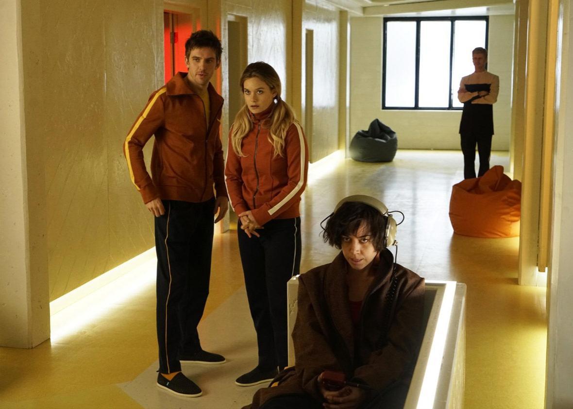 Dan Stevens, Aubrey Plaza, and Rachel Keller in Legion