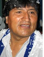 Morales on Election Day. Click image to expand.