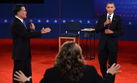 Everyone got in on the rule-breaking action during Tuesday's town hall debate at Hofstra University