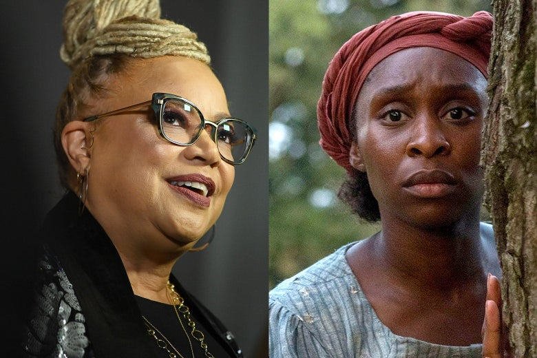 Harriet director Kasi Lemmons and Cynthia Erivo as Harriet Tubman.