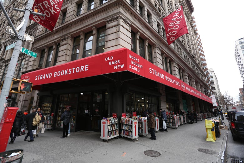 NEW YORK, NY - JANUARY 12:  A view of Strand Bookstore on January 12, 2016 in New York, United States. Strand was one of the favorite places rock legend David Bowie would go to regularly as a New Yorker. He passed away on Sunday, January 10th at the age of 69 after an 18 month battle with cancer.  (Photo by Rob Kim/Getty Images)