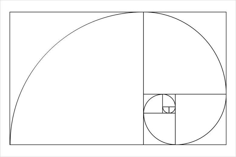 The golden spiral.