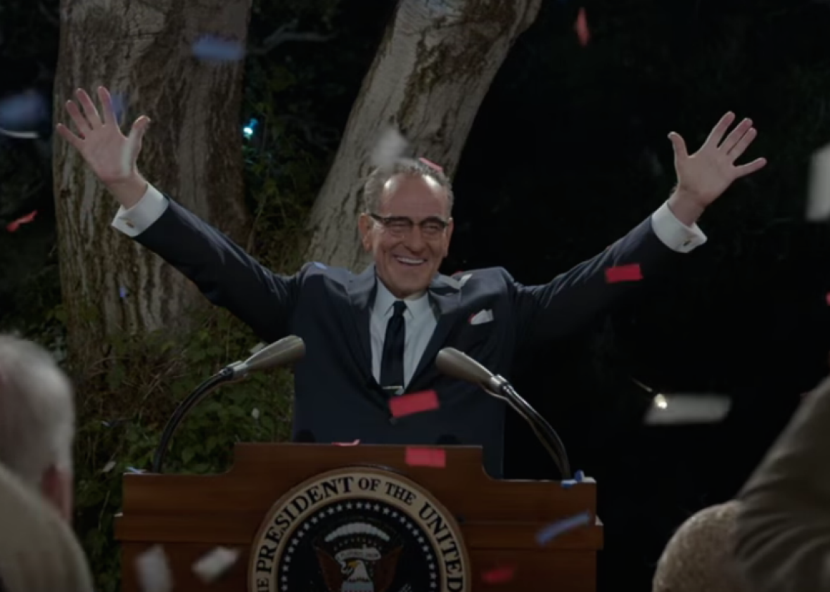 Bryan Cranston as LBJ in All the Way.