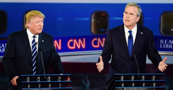 Donald Trump and Jeb Bush
