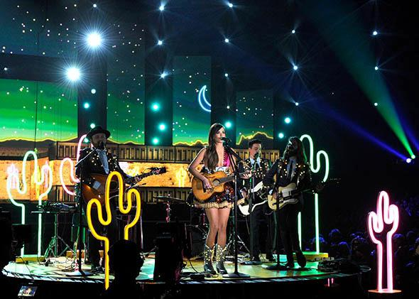 Singer Kacey Musgraves performs onstage during the 56th Grammy Awards on January 26, 2014 in Los Angeles, California.
