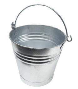 A silver bucket.