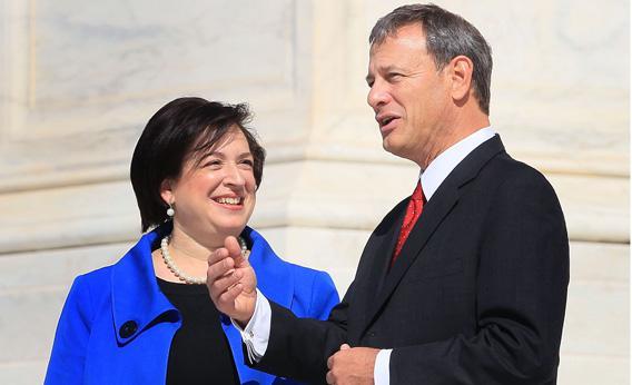 Justice Elana Kagan and Chief Justice John Roberts