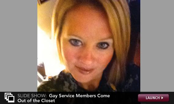 Click image to launch slideshow on gay service members coming out of the closet.