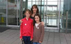 The author and her kids visit the Clinton Presidential Library in Little Rock, AR.