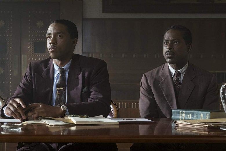 Sterling K. Brown and Chadwick Boseman.
