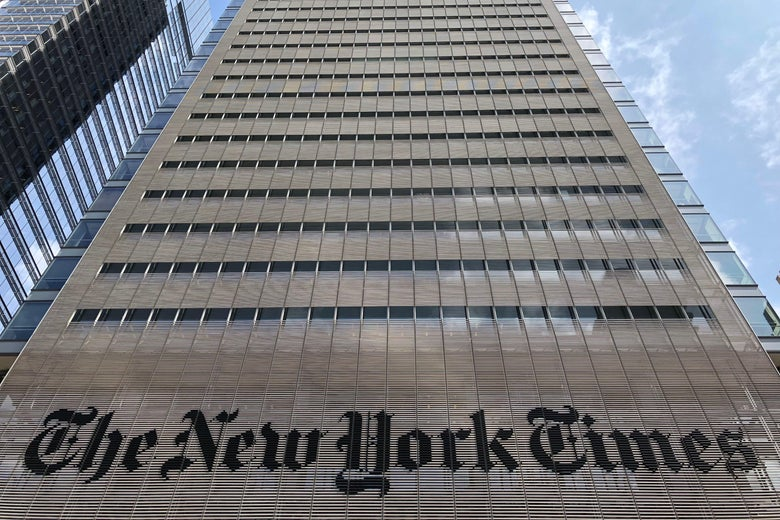 The New York Times building on 8th Avenue is seen Aug. 21, 2018 in New York City.