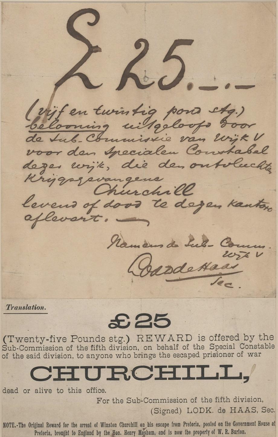 Winston Churchill Warrant