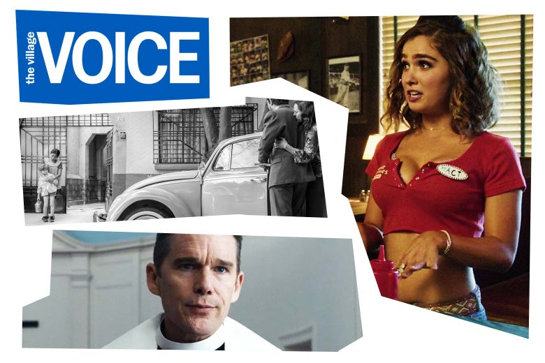 The Village Voice logo plus stills of some of the winning films.