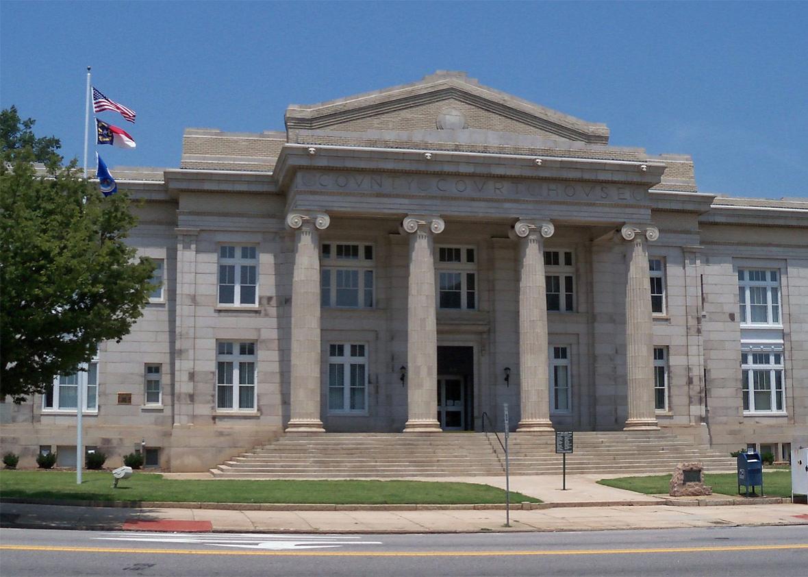 Rowan County Courthouse in Salisbury, North Carolina, USA.