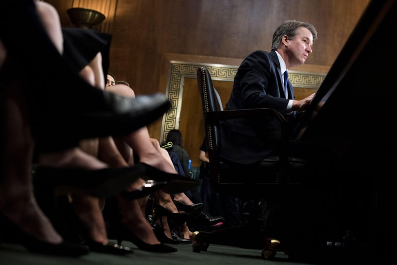 Supreme court nominee Brett Kavanaugh testifies before the Senate Judiciary Committee on Capitol Hill in Washington on Thursday.