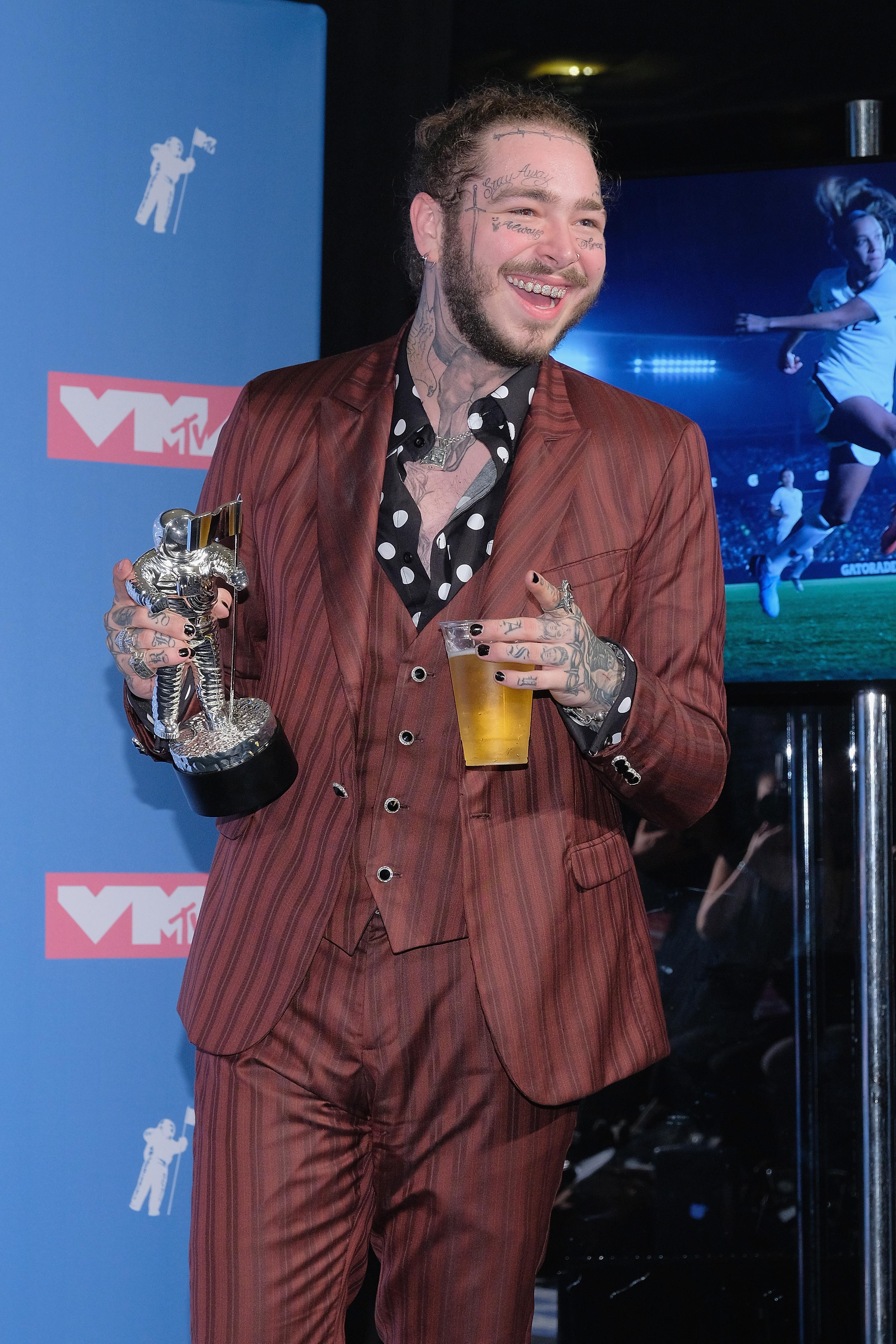 Post Malone at the 2018 MTV Video Music Awards.