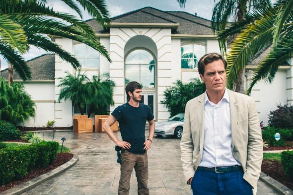 Andrew Garfield and Michael Shannon in 99 Homes.