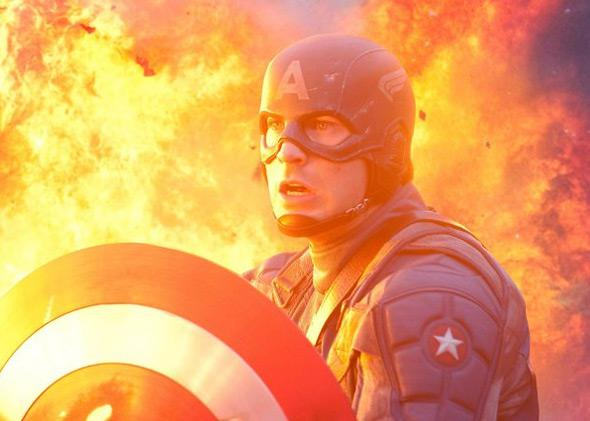 Chris Evans in Captain America: The First Avenger (2011).