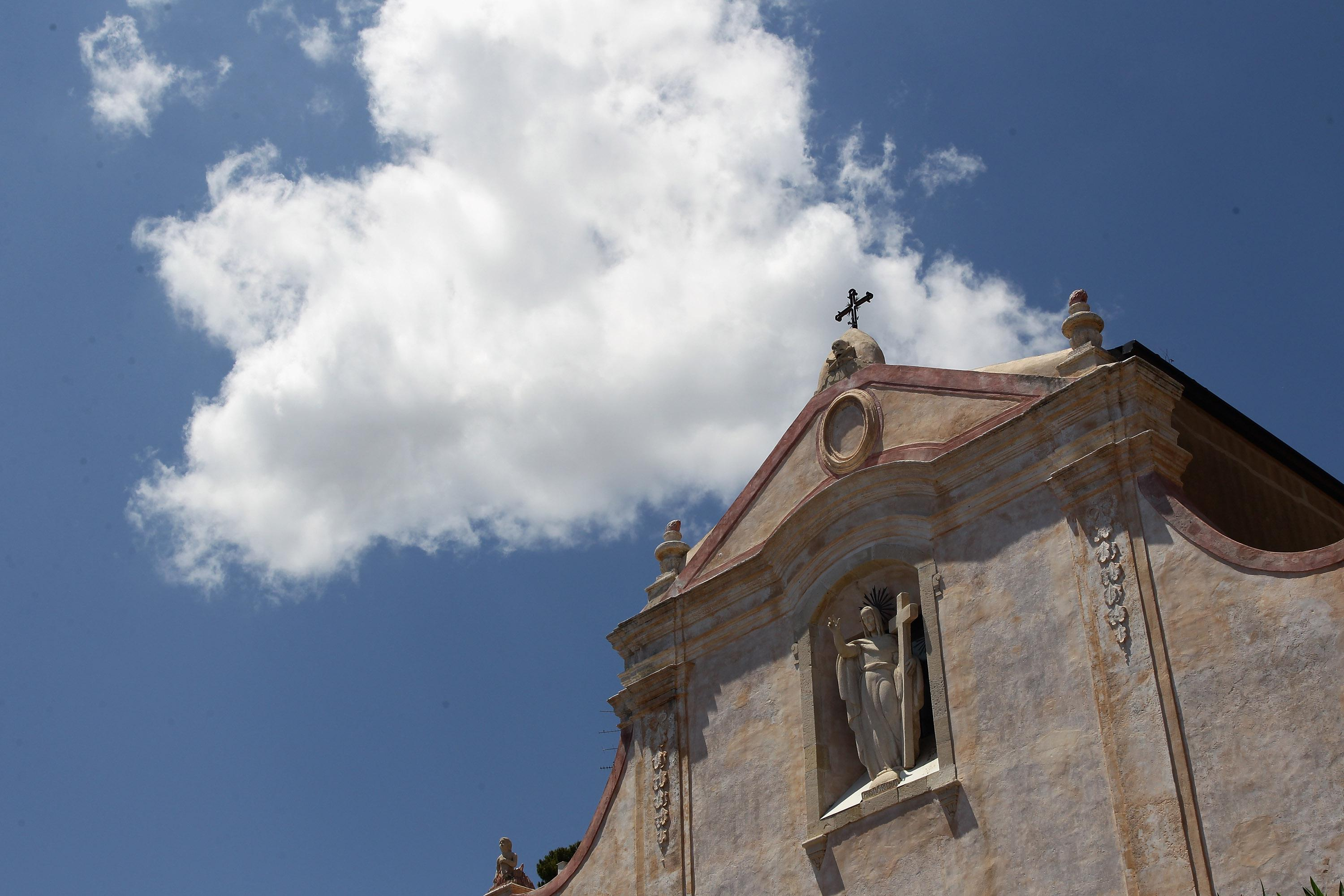 A general view of the church of San Giuseppe on June 11, 2011 in Taormina, Italy.