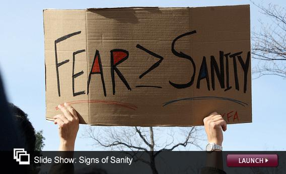 Slide Show: Signs of Sanity. Click image to launch.