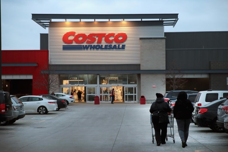 Customers shop at a Costco store on December 12, 2018 in Chicago, Illinois.
