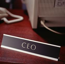 CEO sign.