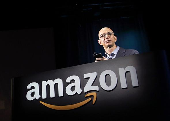 Amazon CEO Jeff Bezos at a news conference in Seattle, Washington June 18, 2014.