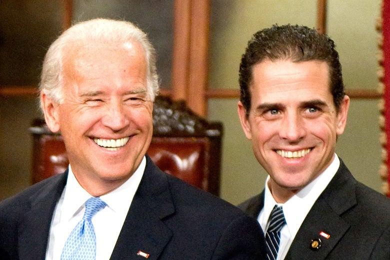 Joe Biden and Hunter in 2009.