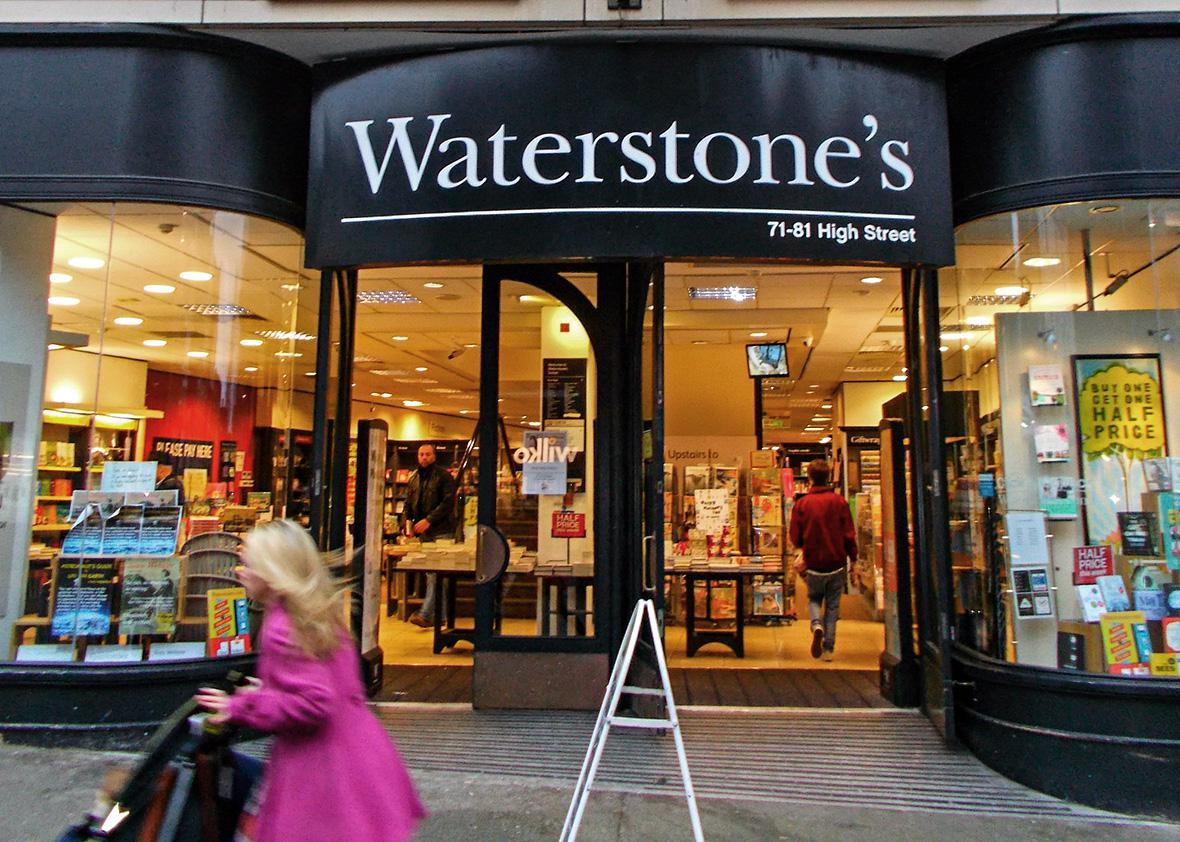 Waterstones bookshop on Sutton High Street in Sutton, England.