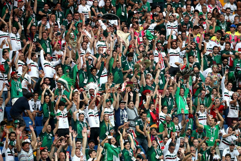 ROSTOV-ON-DON, RUSSIA - JUNE 23:  Mexico fans create a Mexican wave during the 2018 FIFA World Cup Russia group F match between Korea Republic and Mexico at Rostov Arena on June 23, 2018 in Rostov-on-Don, Russia.  (Photo by Clive Brunskill/Getty Images)