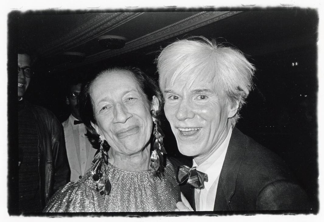 The Empress of Fashion and the Pope of Pop: Andy Warhol and Former Vogue Editor-in-Chief Diana Vreeland Found Each Other Both Endearing and Annoying, ca. 1975