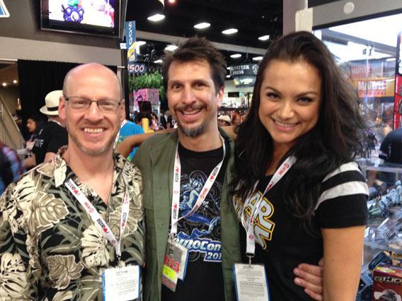 Phil Plait, Lucky Yates, and Christina Ochoa