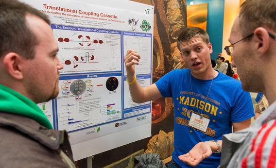 Students present their work at the iGEM 2012 World Championship Jamboree in November in Cambridge, Massachusetts.