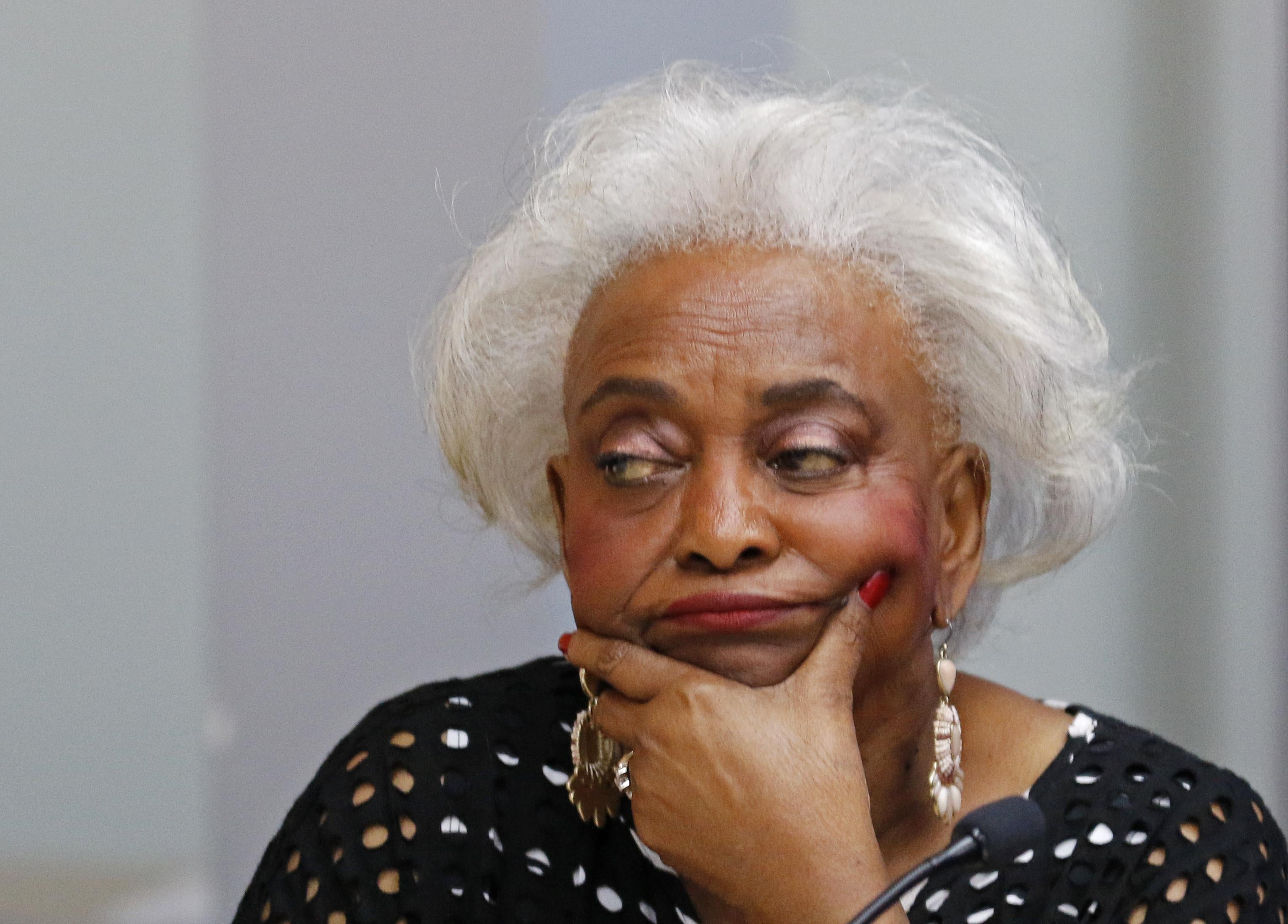Brenda Snipes, the top election official in Broward County, in a meeting in Florida.