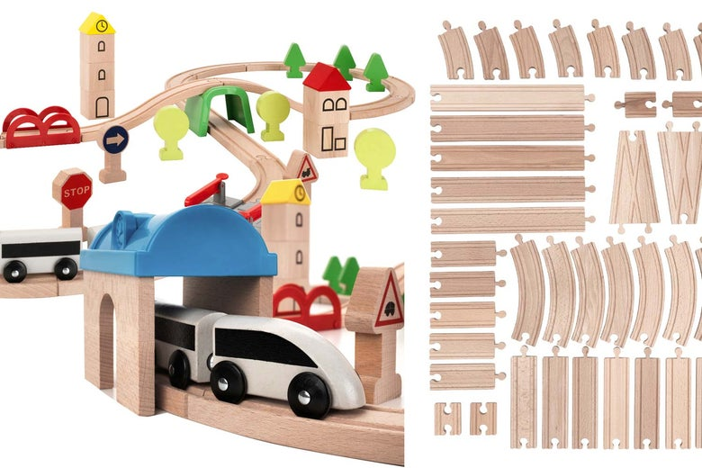 Ikea Lillabo train set.