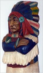 Cigar-store Indian.