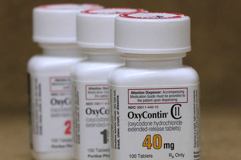 A bottle of OxyContin.