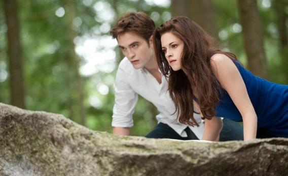 Kristen Stewart and Robert Pattinson in The Twilight Saga: Breaking Dawn - Part 2.