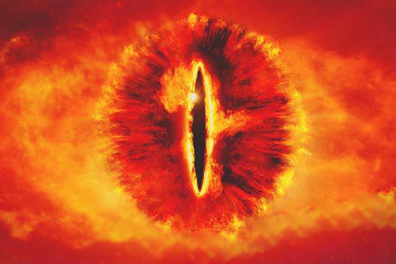 Eye of Sauron, Lord of the Rings: The Fellowship of the Ring.