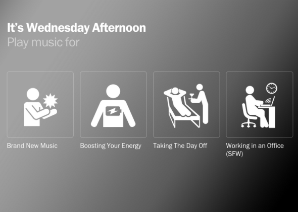 Songza wants to know what you're in the mood for right this moment. And so does Google.