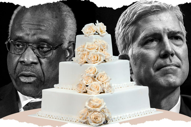 Justice Thomas, a wedding cake, and Justice Gorsuch.