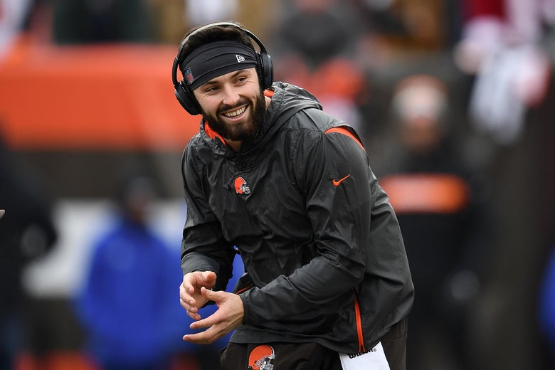 CLEVELAND, OH - DECEMBER 23:  Baker Mayfield #6 of the Cleveland Browns warms up prior to the game against the Cincinnati Bengals at FirstEnergy Stadium on December 23, 2018 in Cleveland, Ohio. (Photo by Jason Miller/Getty Images)